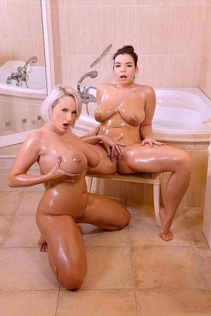Huge Oiled Tits