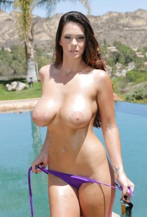 Huge Tits In Pool