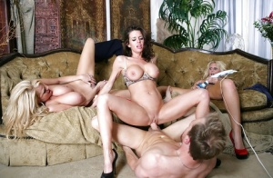 Huge Tits Reverse Gangbang