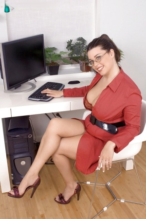 Huge Tits Office