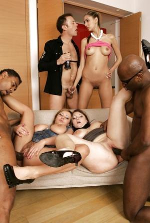 Huge Tit Group Sex